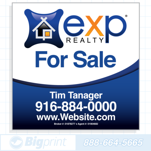 exp realty standard for sale sign (24 x 24 inches)