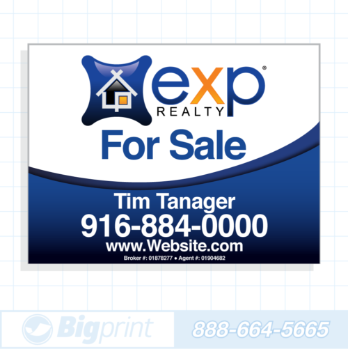 exp realty for sale sign standard 18x24