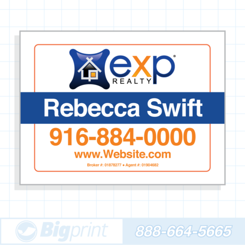 exp realty white for sale sign (18 x 24 inches)