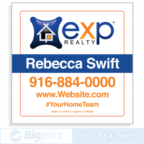 exp realty white for sale sign (24 x 24 inches)