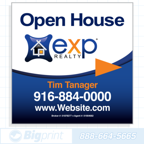 exp realty standard open house sign (24 x 24 inches)