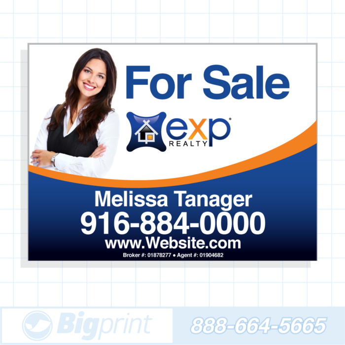 exp realty for sale sign standard photo 18x24