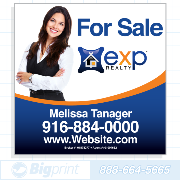 exp realty for sale sign standard photo 24x24