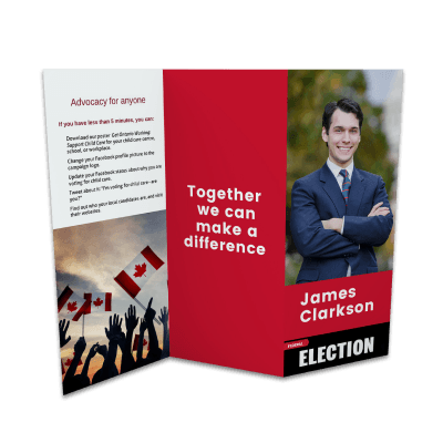 political election candidate ballot measure brochure