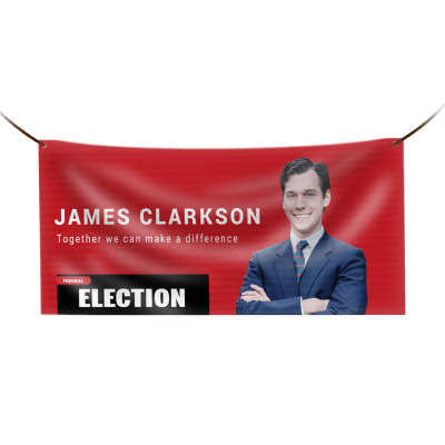 political election candidate ballot measure banners