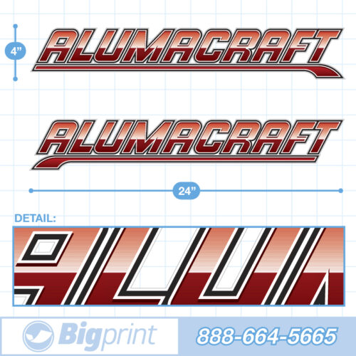 "Alumacraft Boat Decals Factory Enhanced ""Red Alert"" Sticker Package product image"