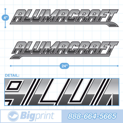 Steel grey and black Alumacraft Boat Decals Factory Enhanced Sticker Package product image