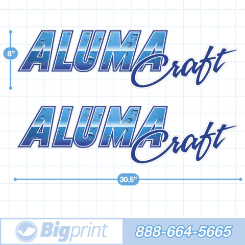 Alumacraft Boat Decals Factory Enhanced Sticker Package with blue water pattern product image
