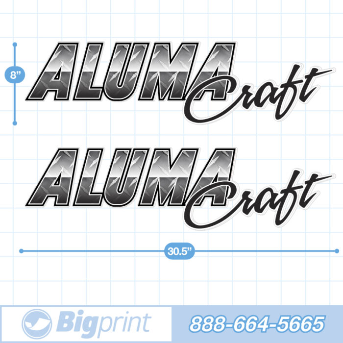 Grey diamond plate patterned alumacraft factory decal package product image