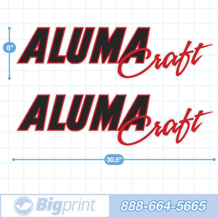 Black and red alumacraft factory decal package product image