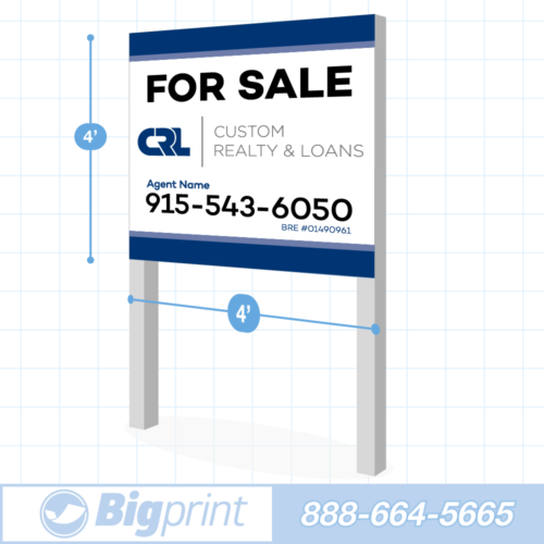 roadside commercial real estate sign