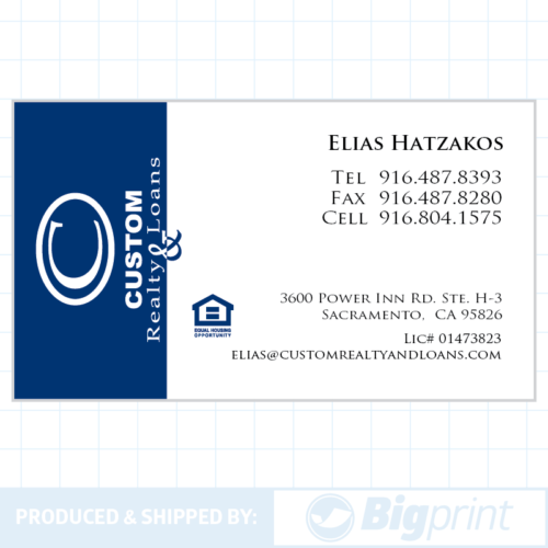 custom realty business card design online