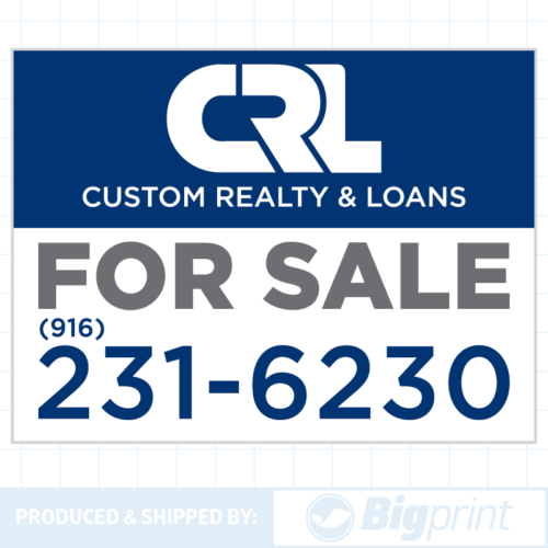 custom realty for sale sign design online