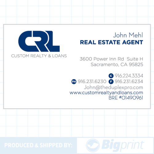 custom realty modern business card design online