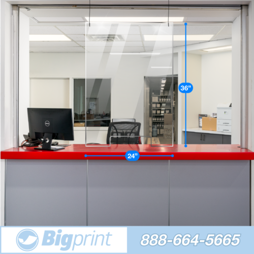 easy hanging sneeze guard with cutout single person wide barrier to slow the spread of covid and airborne illness transaction