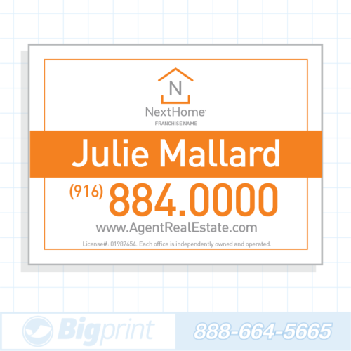 Professional white Nexthome Real Estate sign 18 x 24 inches