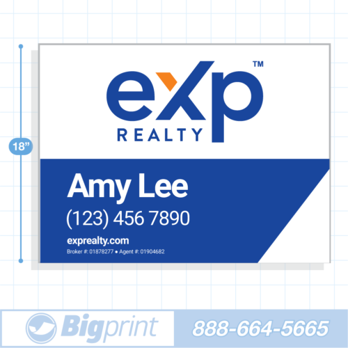 New 2020 main exp realty for sale sign with logo 18x24 inch