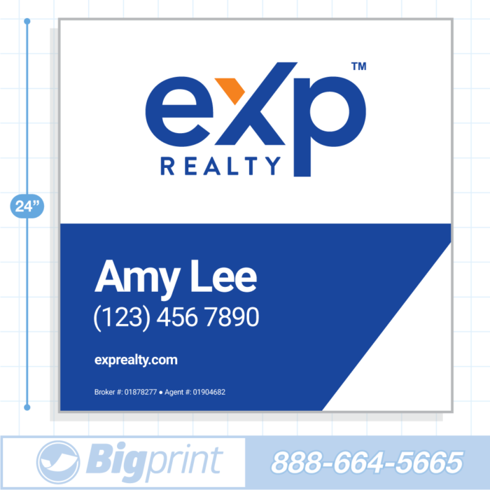 New 2020 main exp realty for sale sign with logo 24x24 inch