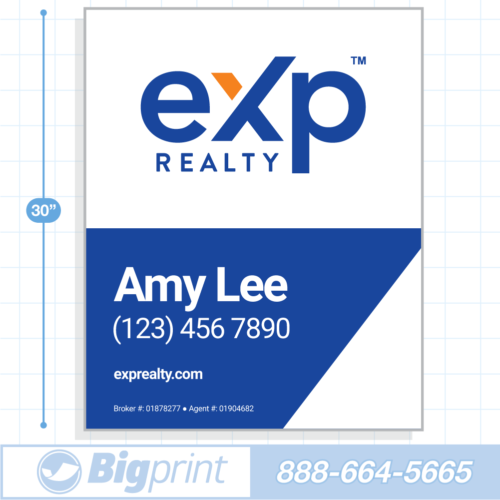 New 2020 main exp realty for sale sign with logo 30x24 inch