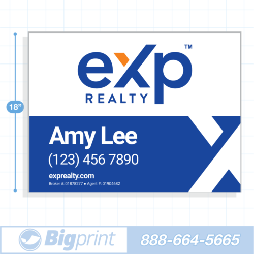 New 2020 option 3 exp realty for sale sign with logo 18x24 inch