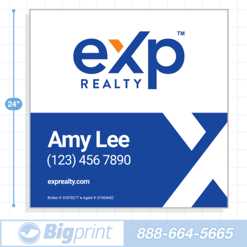 New 2020 option 3 exp realty for sale sign with logo 24x24 inch