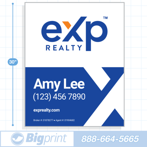 New 2020 option 3 exp realty for sale sign with logo 30x24 inch